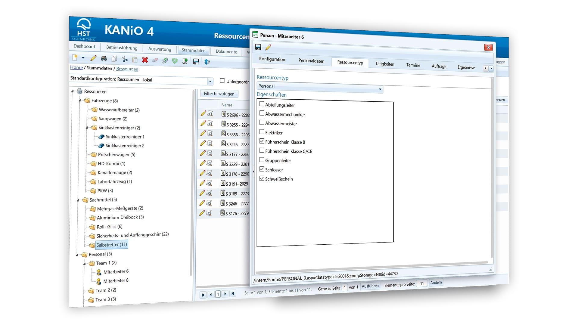 KANiO® Module - Resource management 1